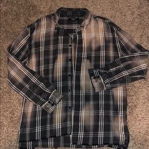 Forever 21 Distressed Men's Flannel